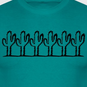 row pattern design many decorative cactus kakten T-Shirts - Men's T-Shirt