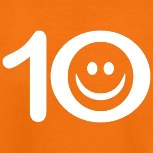 Zum Zehnten: 10 mit Smiley T-Shirts - Teenager Premium T-Shirt