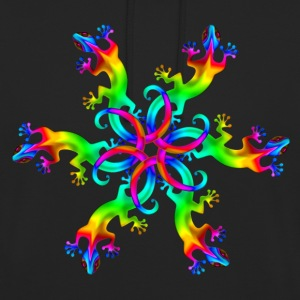 Gecko, lizard, summer, Goa, Trance, Psytrance Sweat-shirts - Sweat-shirt à capuche unisexe