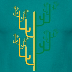 art branches cool large desert cactus design patte T-Shirts - Men's T-Shirt