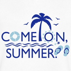 COME ON SUMMER Men's V-Neck T-Shirt