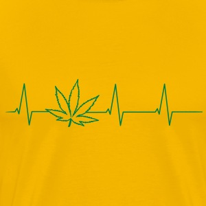 Heartbeat Cannabis T-Shirts - Men's Premium T-Shirt