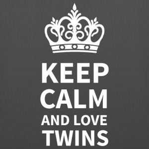 Stoffbeutel KEEP CALM AND LOVE TWINS  - Stoffbeutel