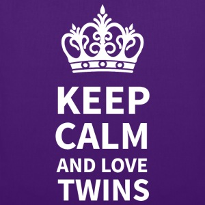 Stoffbeutel: KEEP CALM AND LOVE TWINS  - Stoffbeutel