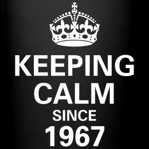 Keeping Calm Since 1967 Printed Mug Gift - Black - Full Colour Mug