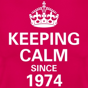 Keeping Calm Since 1974 Women's T - Pink - Women's T-Shirt
