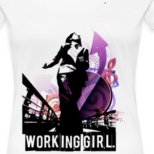 Working Girl. - Frauen Premium T-Shirt