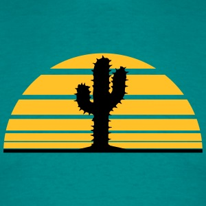 cactus, lignes desert sunset strip levers Tee shirts - T-shirt Homme