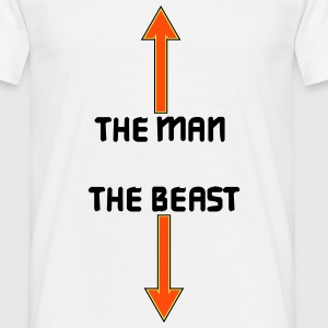 the man the beast T-shirts - Mannen T-shirt