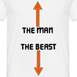 the man the beast T-shirts - Herre-T-shirt