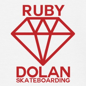 Ruby Dolan Skateboarding Logo T - Men's T-Shirt
