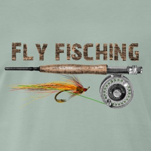 Angel fly fishing T-Shirts - Männer Premium T-Shirt