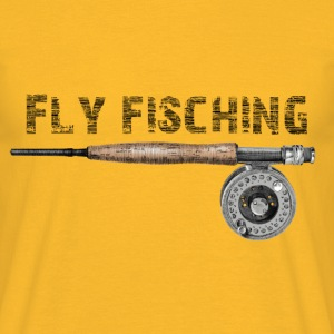 Angel fly fishing T-Shirts - Männer T-Shirt