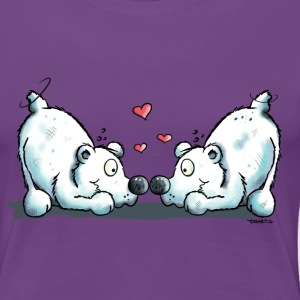 Eisbären in Love T-Shirts - Frauen Premium T-Shirt