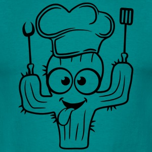 cactus soft cook restaurant grill chef hat pancake T-Shirts - Men's T-Shirt