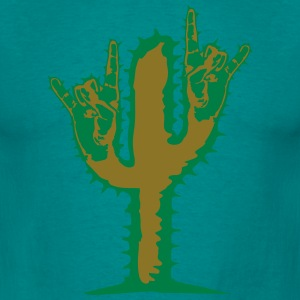 hard rock heavy metal hand gesture horns satan dev T-Shirts - Men's T-Shirt