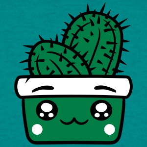 face baby comic cartoon cactus cactus flower pot c T-Shirts - Men's T-Shirt