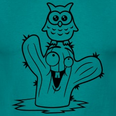 friends happy face desert owl bird owl small comic T-Shirts