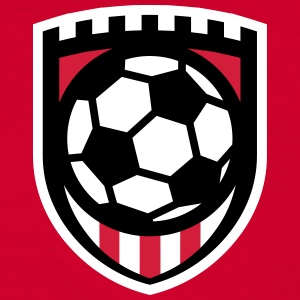 Minimal football logo / coat of arms / flag / badge Magliette - Maglietta Contrast da uomo