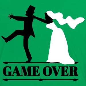 JGA game over Bachelor farewell wedding party T-Shirts - Women's Ringer T-Shirt
