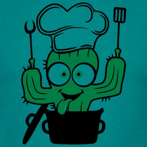 comic cactus saucepan soft cook restaurant chef ha T-Shirts - Men's T-Shirt