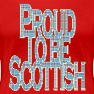 Proud to Be Scottish blue pink tartan T-Shirts - Women's Premium T-Shirt