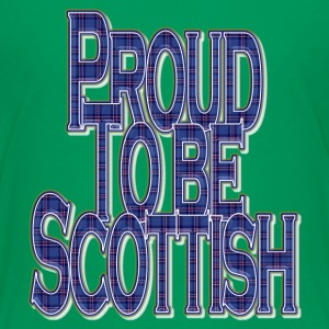 Proud to Be Scottish_blue tartan quote Shirts - Teenage Premium T-Shirt
