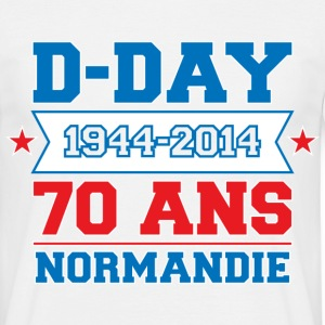 T-Shirt France Design bleu blanc rouge: D-day 70 N - T-shirt Homme