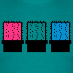 3 colorful many pattern design pixel nerd geek gam T-Shirts