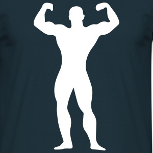 flexing man T-shirts - T-shirt herr