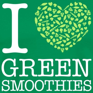 I Heart Green Smoothies T-shirts - Premium-T-shirt herr