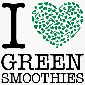 I Heart Green Smoothies T-skjorter - Økologisk T-skjorte for menn
