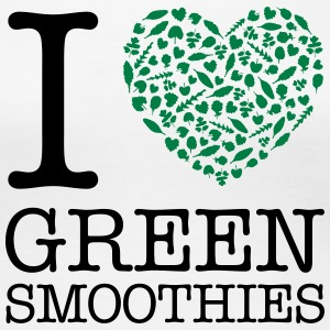 I Heart Green Smoothies T-shirts - Premium-T-shirt dam
