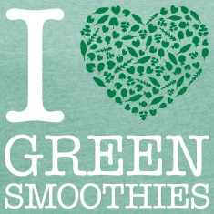I Heart Green Smoothies T-skjorter
