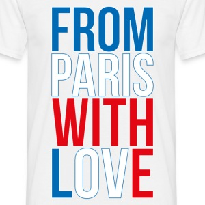 T-Shirt France Design bleu blanc rouge: From Paris - T-shirt Homme