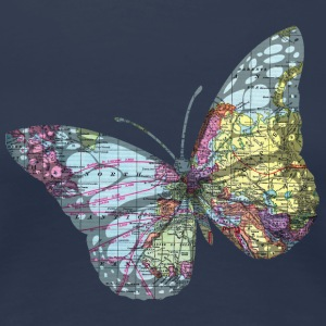 Butterfly map - Women's Premium T-Shirt