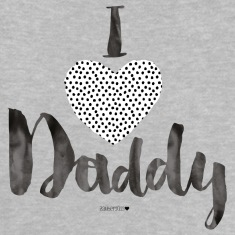 I Love Daddy Dotties Baby T-Shirts