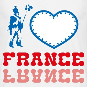 T-Shirt France Design bleu blanc rouge: I Love Fra - T-shirt Homme