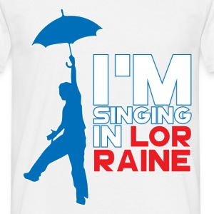 T-Shirt France Humour bleu blanc rouge: Singing in - T-shirt Homme
