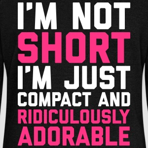 I'm Not Short Funny Quote Hoodies & Sweatshirts - Women's Boat Neck Long Sleeve Top