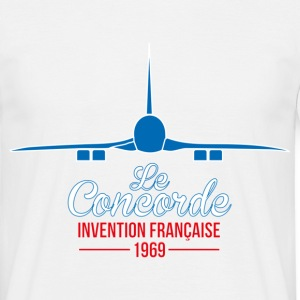 T-Shirt France Design bleu blanc rouge: Le Concord - T-shirt Homme