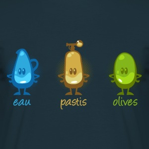 Eau pastis olives cartoon - T-shirt Homme