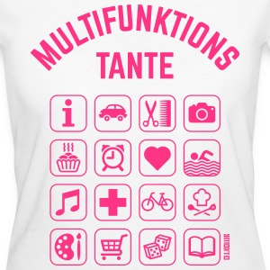 Multifunktions Tante (16 Icons) T-Shirts - Frauen Bio-T-Shirt