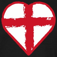 English pride - Heart flag St George Cros