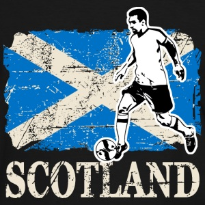Soccer - Fußball - Scotland Flag Tee shirts - T-shirt contraste Homme