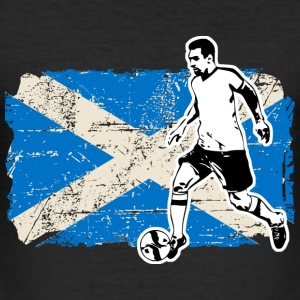 Soccer - Fußball - Scotland Flag T-Shirts - Men's Slim Fit T-Shirt