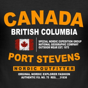 Canada - British Columbia - Canadian Vintage Flag T-Shirts - Männer Slim Fit T-Shirt