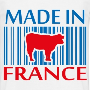 T-Shirt Made in France Vache en bleu blanc rouge - T-shirt Homme