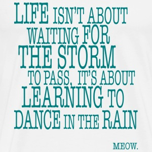 Life is about Dancing in the Rain T-Shirts - Men's Premium T-Shirt