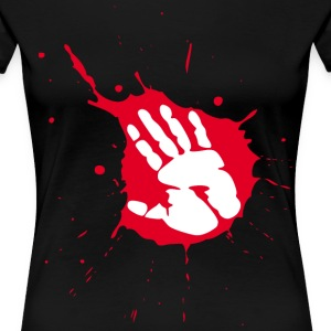 splash handabdruck T-Shirts - Frauen Premium T-Shirt